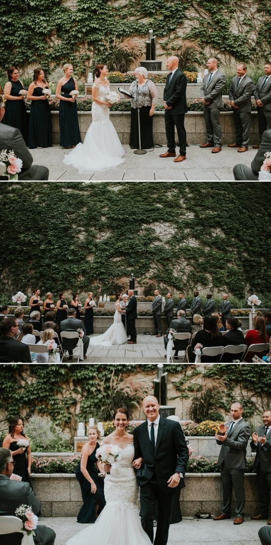 Marcus Center Outdoor Wedding Ceremony