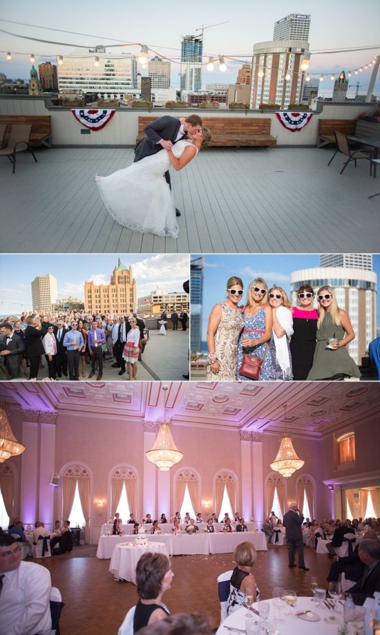 Milwaukee Athletic Club Wedding rooftop