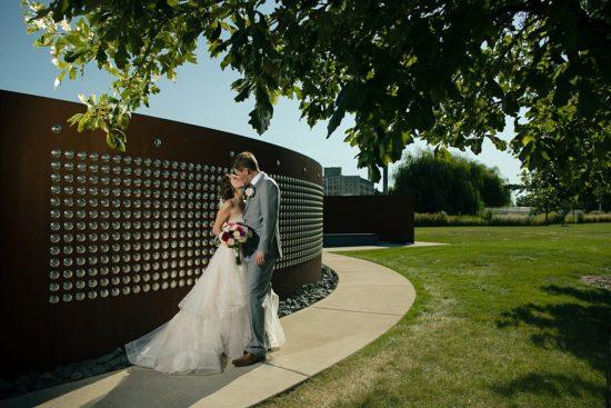 Harley Davidson Wedding Rivet Wall