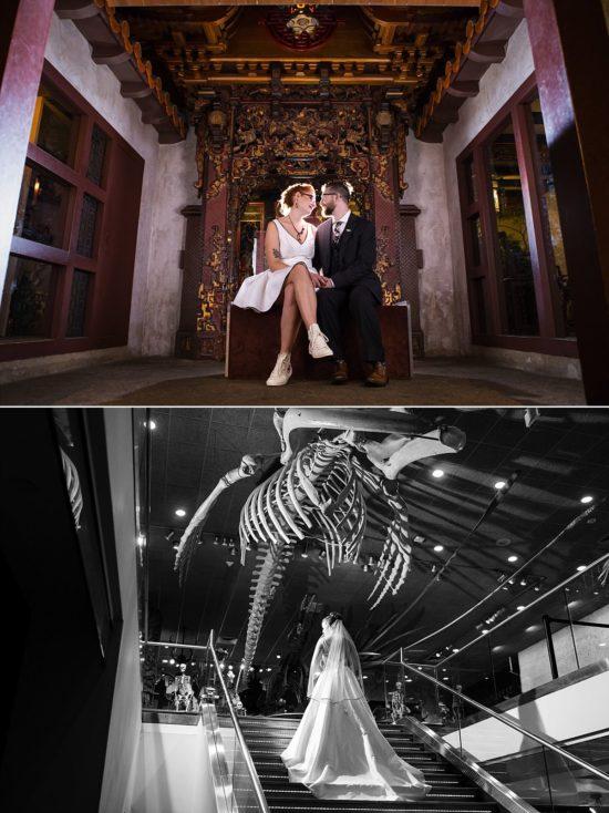 Milwaukee Public Museum Wedding Photo