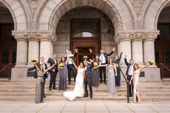 Milwaukee Federal Courthouse building wedding photos