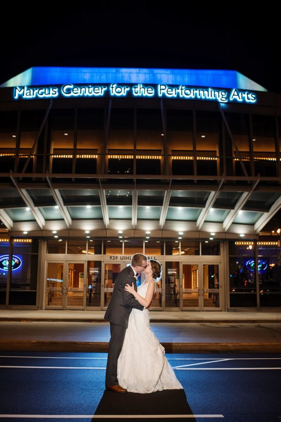 Marcus Center for performing arts wedding photos
