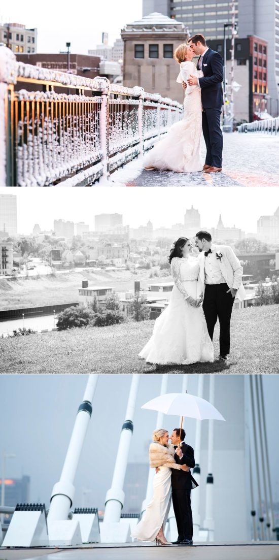 milwaukee skyline wedding photos