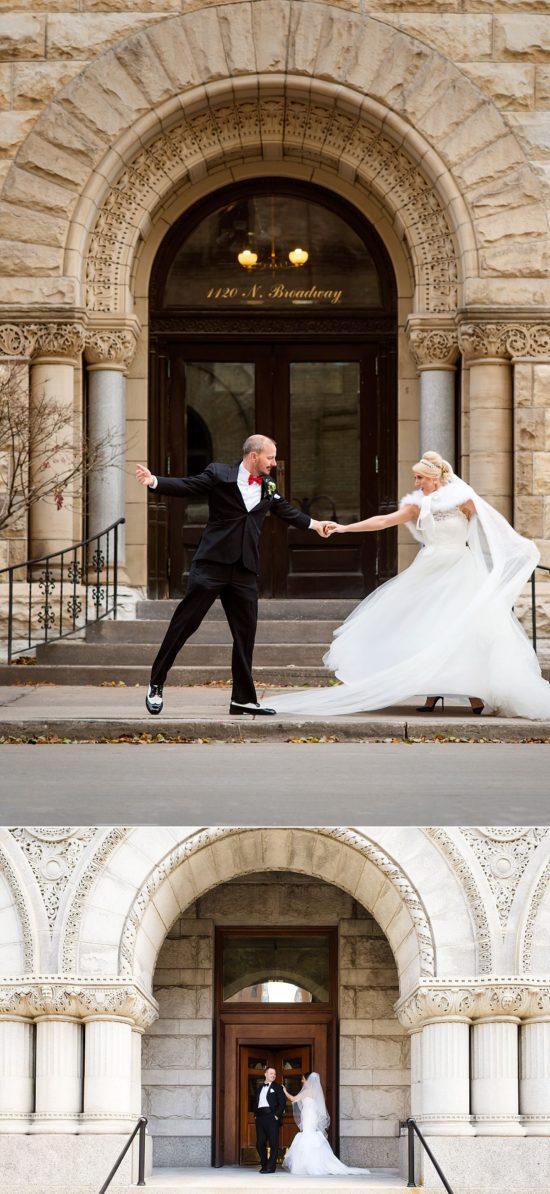 Federal Courthouse Milwaukee wedding photos