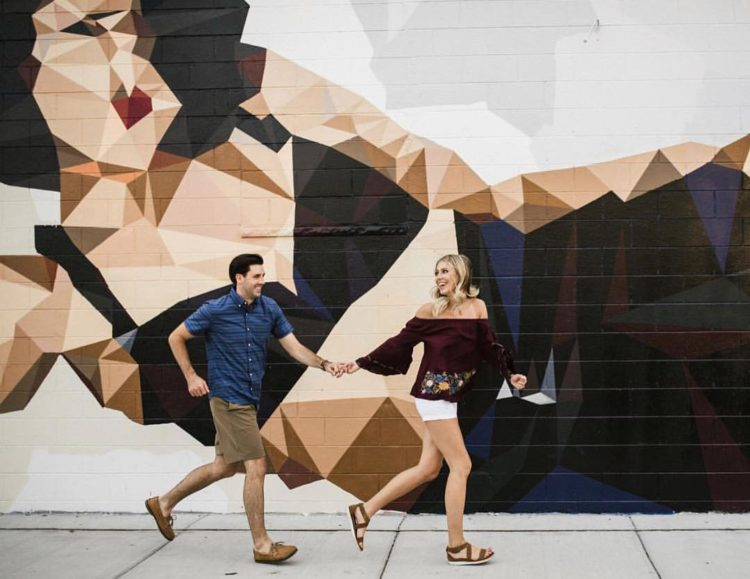 Selena Mural Engagement Photo - Roost Photography