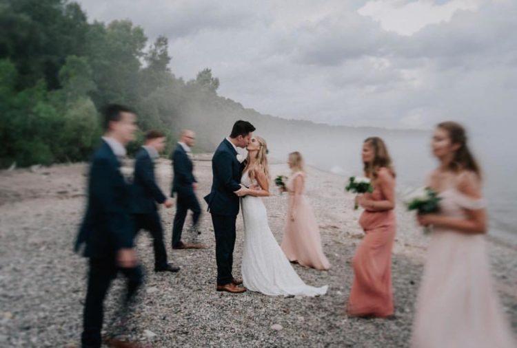 Beach Wedding Milwaukee - Roost Photography