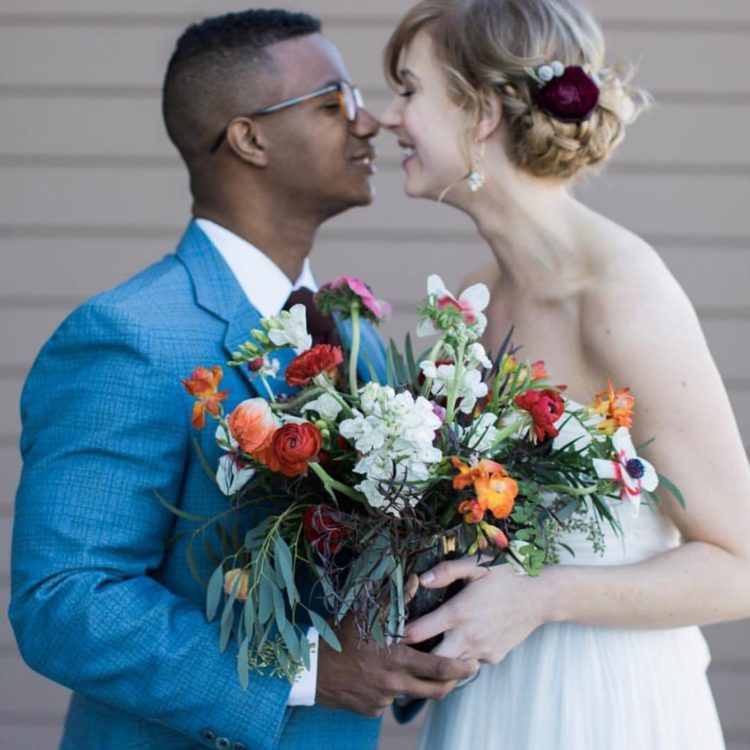 Milwaukee Wedding Couple - Autumn Silva Photography and Floral Alchemy