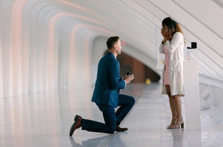 Surprise Engagement Art Museum - 414 Photography