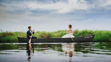 Wedding Canoe Roost Photography