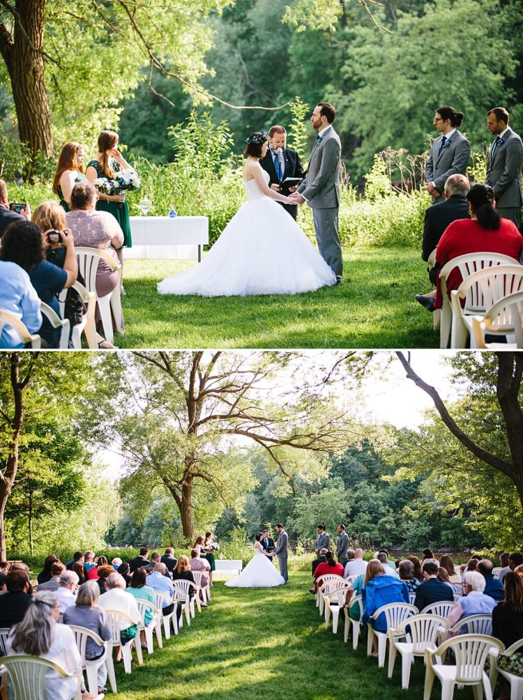 Outdoor Wedding Ceremony in Hubbard Park