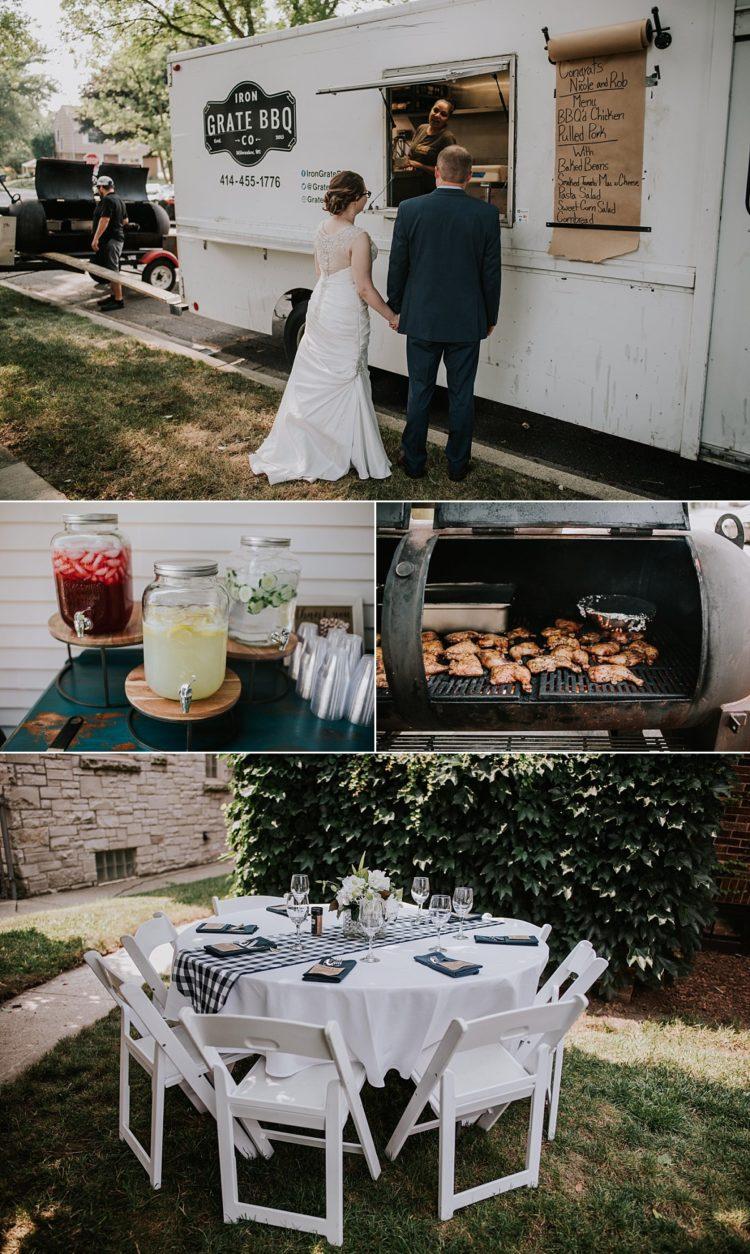 milwaukee backyard wedding wauwatosa iron grate bbq