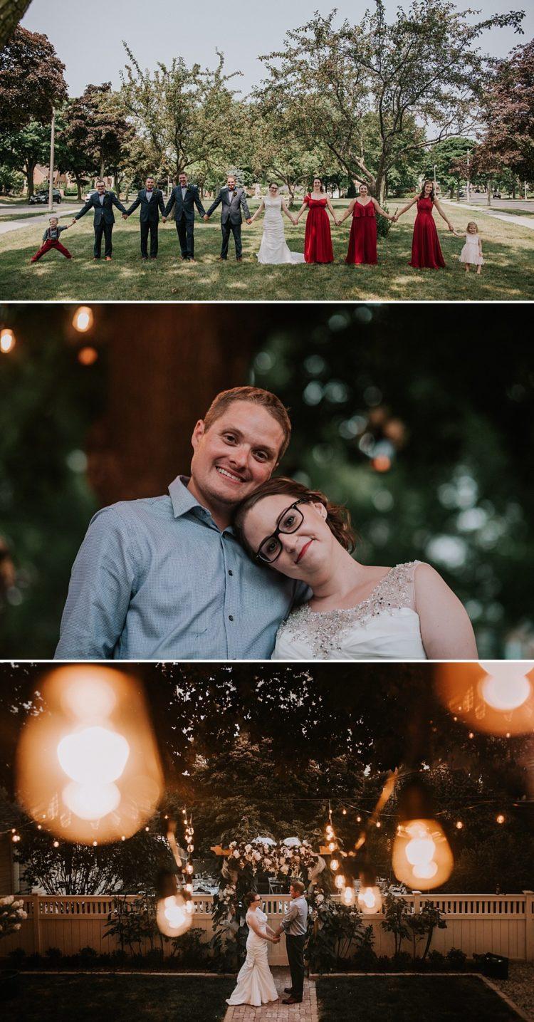 Backyard Milwaukee Wedding