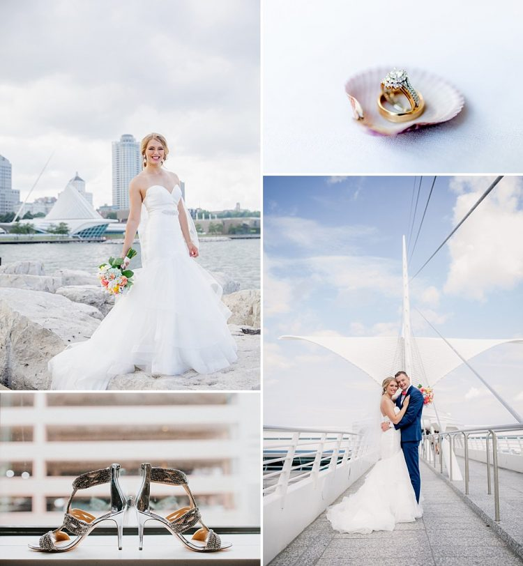 Milwaukee Yacht Club Wedding Dress and Rings