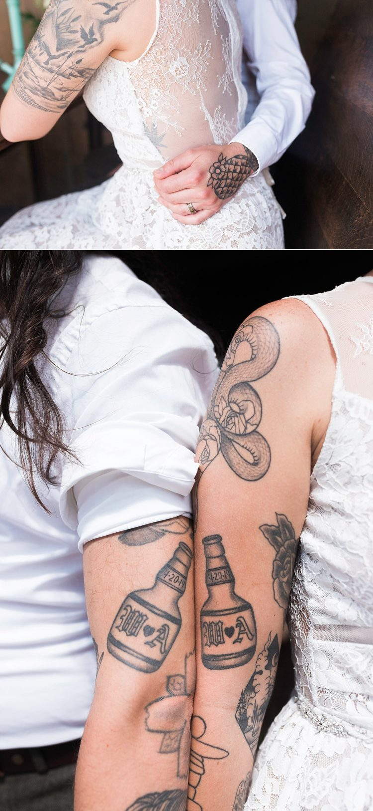 weed couples tattoo cannabis