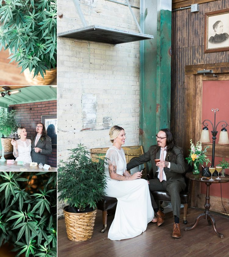 hemp cannabis wedding plant decor