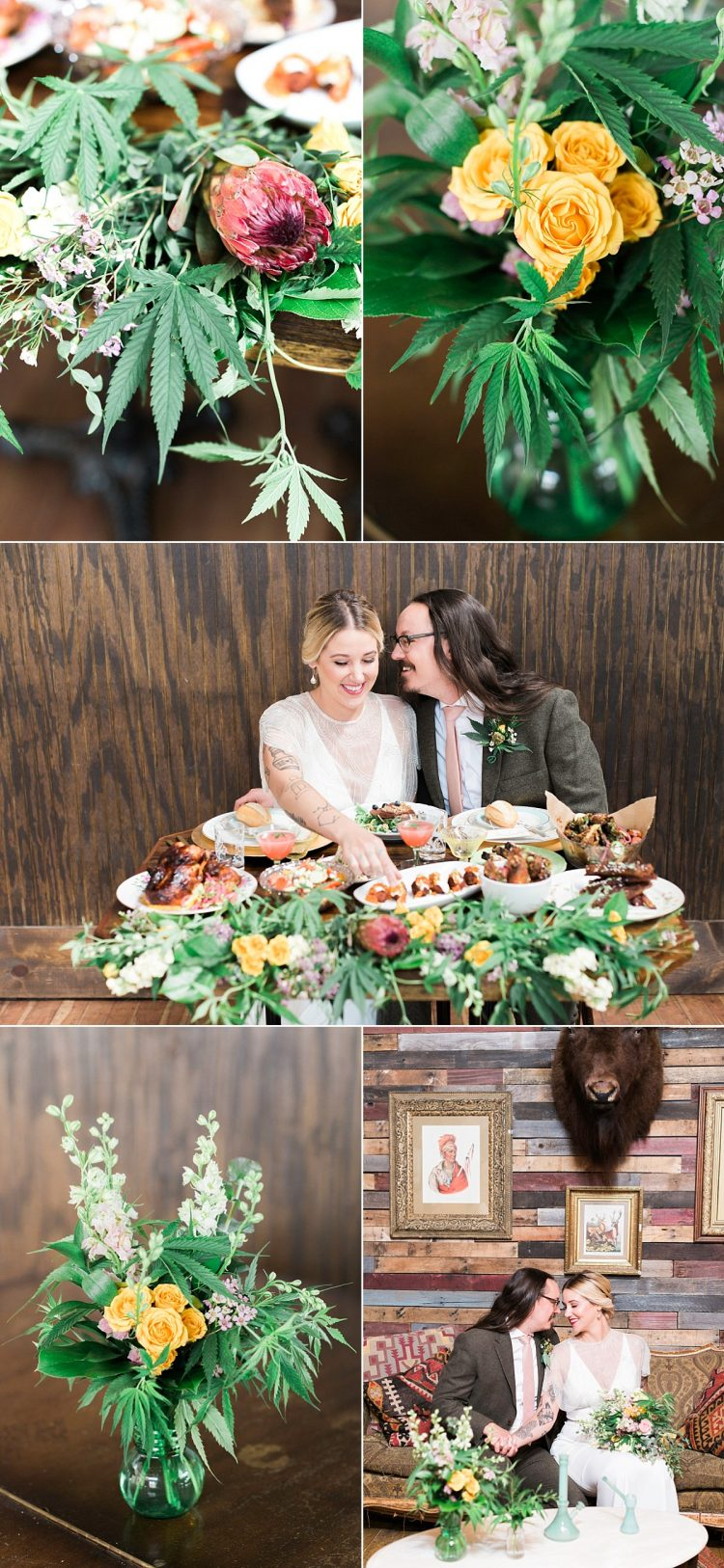 weed centerpieces weddings floral