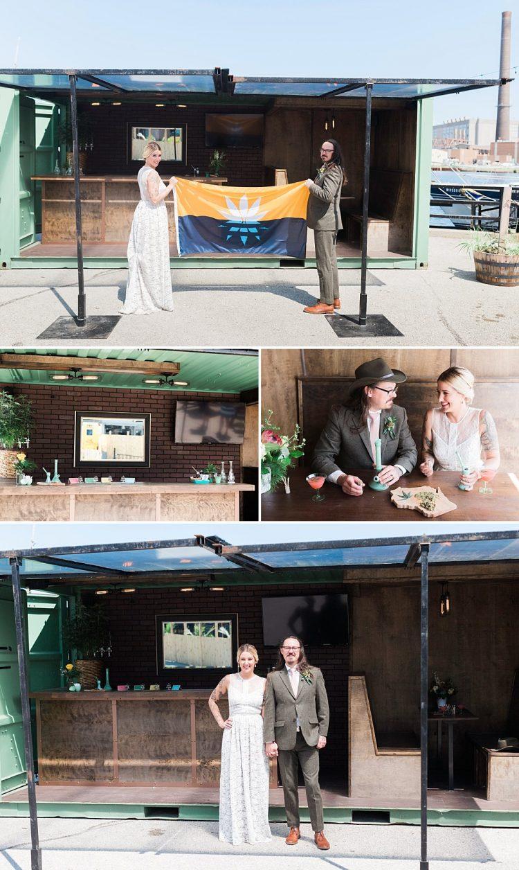 Weed Wedding Smoke Lounge - Containers Up