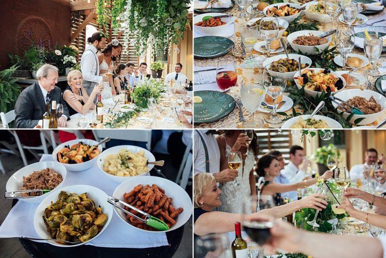 Sanger House Gardens Wedding Dinner