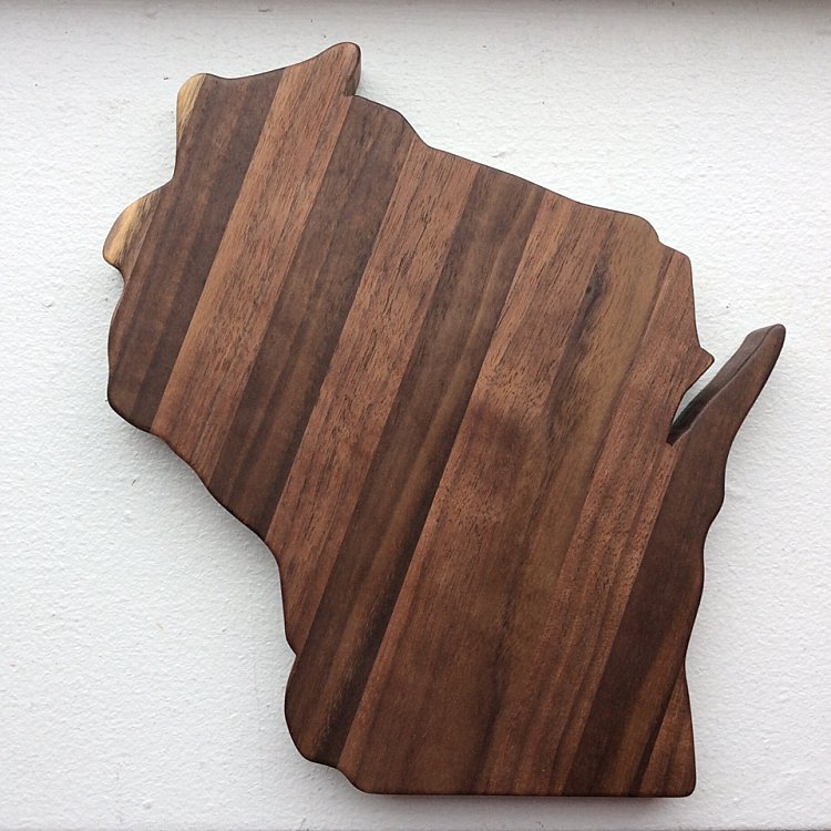 Milwaukee Wedding Favors and Gifts - Wisconsin Cutting Board