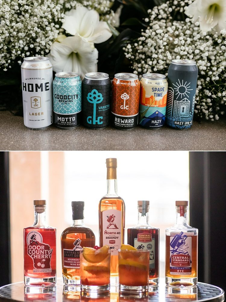 Milwaukee Wedding Favors Gifts - Beer and Liquor