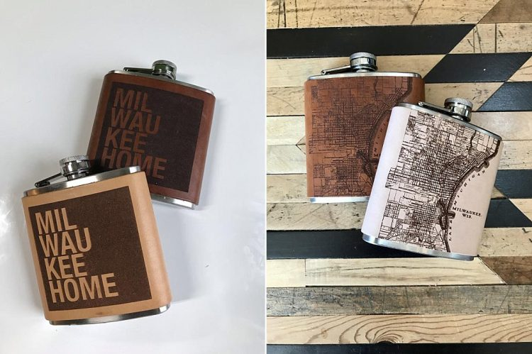 Milwaukee Wedding Favors Gifts - Flask