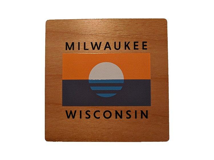 Milwaukee Wedding Favors Gifts - Milwaukee Flag Coaster