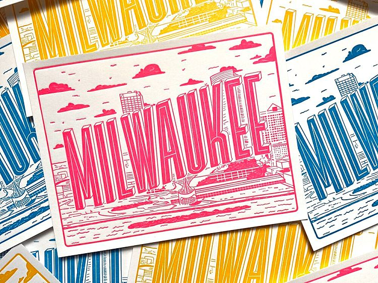 Milwaukee Wedding Favors Gifts - Postcards