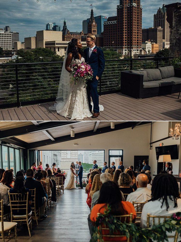 Ceremony Overlooking Downtown Milwaukee