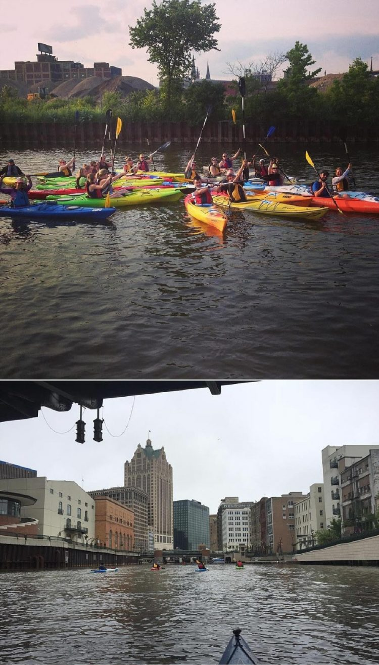 Bachelorette Party in Milwaukee - Kayaking
