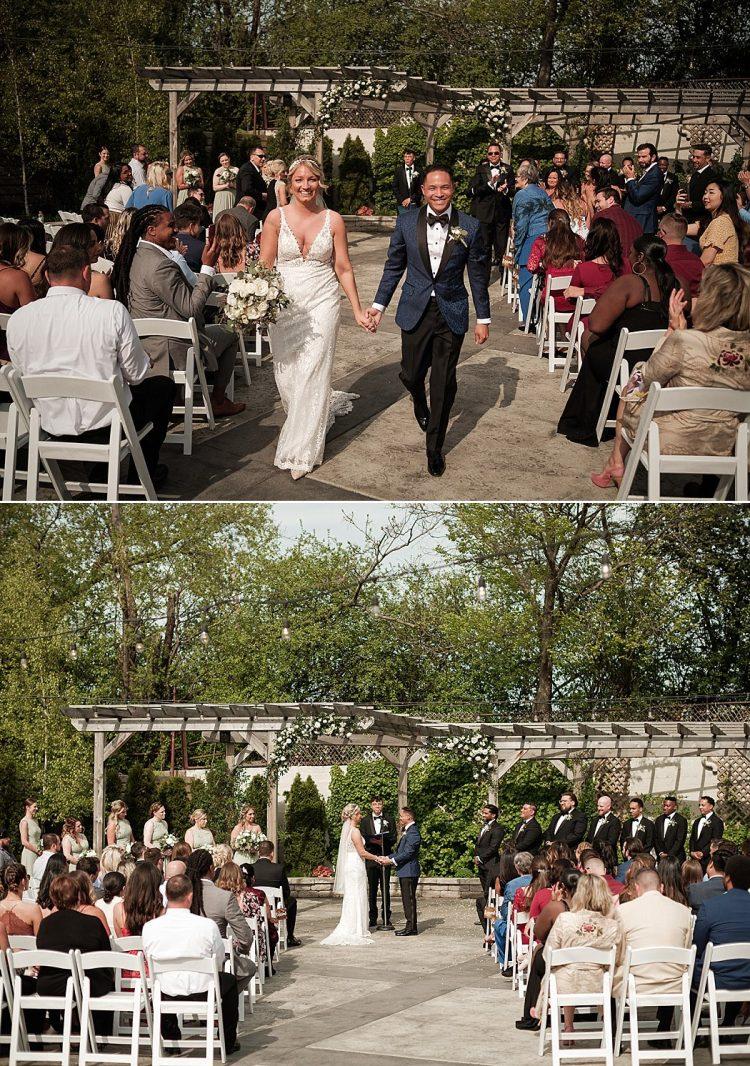 Ivy House Milwaukee - Outdoor Wedding Ceremony